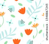 vector seamless pattern with... | Shutterstock .eps vector #1548867245