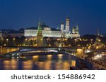 moscow  kremlin fortress with... | Shutterstock . vector #154886942