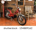 old motorcycle and antique air... | Shutterstock . vector #154889162