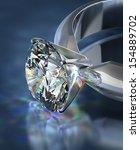 diamond ring | Shutterstock . vector #154889702