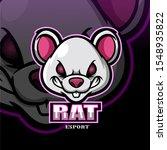 rat mascot esport logo design.