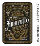 vintage bottle label design... | Shutterstock .eps vector #1548944642