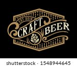 vintage  beer label design... | Shutterstock .eps vector #1548944645