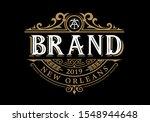 vintage luxury logo template... | Shutterstock .eps vector #1548944648