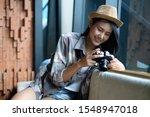 asian travelling girl ... | Shutterstock . vector #1548947018