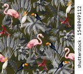 seamless pattern with jungle... | Shutterstock .eps vector #1548949112