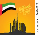 happy national day uae. united...   Shutterstock .eps vector #1548960722