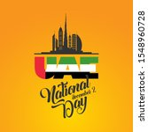 happy national day uae. united...   Shutterstock .eps vector #1548960728