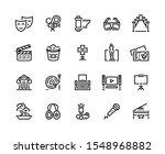 entertainment line icons....   Shutterstock .eps vector #1548968882