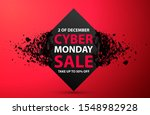 cyber monday sale abstract... | Shutterstock .eps vector #1548982928