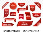 christmas tag isolated. red... | Shutterstock .eps vector #1548983915