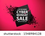cyber monday sale abstract... | Shutterstock .eps vector #1548984128