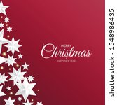 red christmas background with... | Shutterstock .eps vector #1548986435