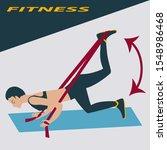 rubber band   girl does... | Shutterstock .eps vector #1548986468