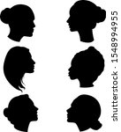 set of silhouettes of women in... | Shutterstock .eps vector #1548994955