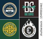 set of vector bike shop ... | Shutterstock .eps vector #1549001462