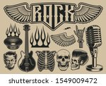 set of vector illustrations on... | Shutterstock .eps vector #1549009472