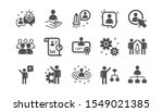 management icons. business... | Shutterstock .eps vector #1549021385
