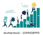 business concept. team metaphor.... | Shutterstock .eps vector #1549038995