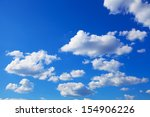 Sunny Blue Sky With Puffy Clouds