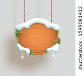 christmas wooden sign hanging... | Shutterstock .eps vector #1549081412