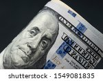 american dollars. a stack of... | Shutterstock . vector #1549081835