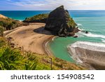 Piha Beach On The West Coast O...