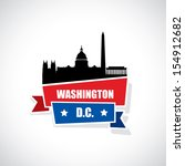 washington dc ribbon banner  ...   Shutterstock .eps vector #154912682