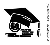 student loan glyph icon. credit ... | Shutterstock .eps vector #1549130762