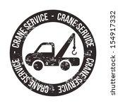 crane services over white... | Shutterstock .eps vector #154917332