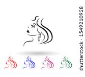 logo of the girl for the beauty ...