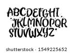 vector hand drawn alphabet...   Shutterstock .eps vector #1549225652