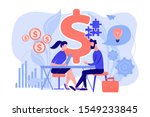 salesperson suggesting a... | Shutterstock .eps vector #1549233845