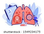 doctor with magnifier and lungs ... | Shutterstock .eps vector #1549234175
