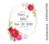 floral wedding invitation card  ... | Shutterstock .eps vector #1549244798