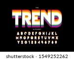 vector of stylized modern font... | Shutterstock .eps vector #1549252262
