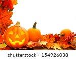 halloween jack o lantern and... | Shutterstock . vector #154926038