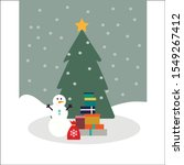 vector christmas card with... | Shutterstock .eps vector #1549267412