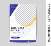 modern business flyer template... | Shutterstock .eps vector #1549268222