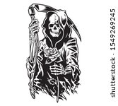 grim reaper death monster with...