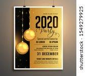 new year 2020 golden party... | Shutterstock .eps vector #1549279925