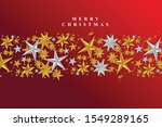 red christmas background with...   Shutterstock .eps vector #1549289165