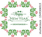 ornament text happy new year... | Shutterstock .eps vector #1549308515