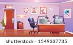 radio station studio interior ... | Shutterstock .eps vector #1549337735