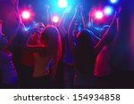 young people having fun dancing ... | Shutterstock . vector #154934858