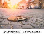 lost leather wallet with money... | Shutterstock . vector #1549358255