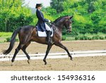 Small photo of Advanced Dressage test: extended trot