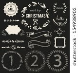 christmas hand drawn vector set ...