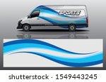 van wrap livery design. ready... | Shutterstock .eps vector #1549443245