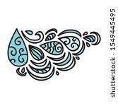 beautiful pattern of water...   Shutterstock .eps vector #1549445495